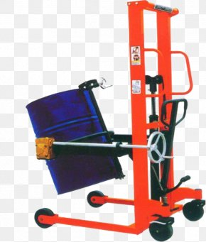 Handling Fork Lift Truck - Drum Handler Hydraulics Stacker Manufacturing PNG