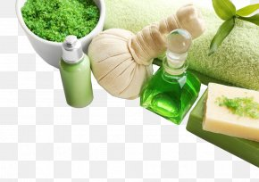 Essential Oils And Bath Salts Soap Spa Towel Image - Towel Spa Bath Salts Soap Essential Oil PNG