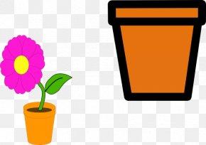 Flower Pot Outline - Flowerpot Cartoon Clip Art PNG