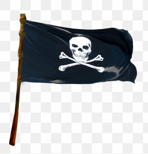 Pirate Banner Material - Piracy Jolly Roger Clip Art PNG