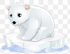 Polar Bear Transparent Clipart - Polar Bear Cartoon Clip Art PNG
