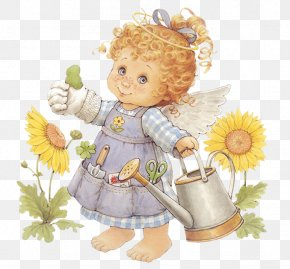 Cute Angel Gardener With Watering Can Free Clipart - The Little Angel Diaper Day Care Child Little Angel Records PNG