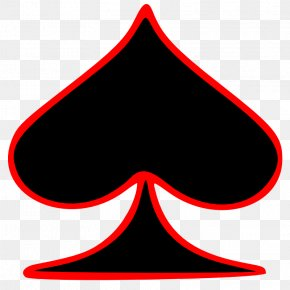 Playing Card Picture - Playing Card Suit Ace Of Spades Card Game PNG
