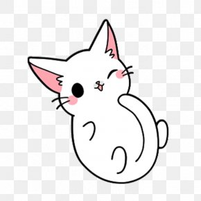 Cute Cat Sit Yang - Cat Kitten Drawing PNG