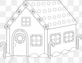 Blank House Cliparts - Gingerbread House Candy Cane Santa Claus PNG