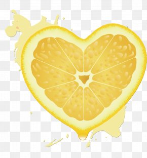 Heart-shaped Orange - Lemon Orange Juice Citron PNG
