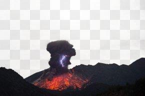 Volcano Picture - Sakurajima Chaitxe9n Mount Merapi Volcano Lightning PNG
