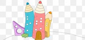 Childlike Cartoon Pencil - Cartoon Lesson Illustration PNG