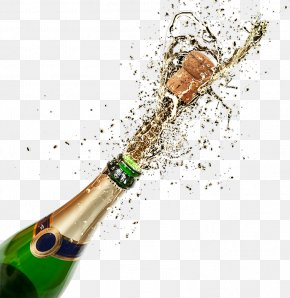 Champagne,Champagne - Champagne Glass Rosé Bottle PNG