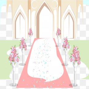 The Background Of The Wedding Hall - Wedding Illustration PNG