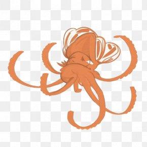 Deep-sea Octopus Cartoon - Octopus Cartoon Illustration PNG