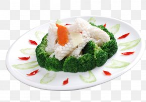 Broccoli Dish - Chinese Cuisine Broccoli Asian Cuisine Squid As Food PNG