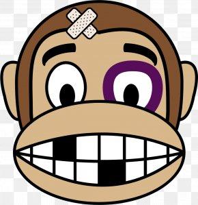 Monkey - Ape Emoji Monkey Drawing Clip Art PNG
