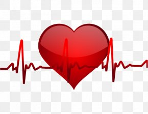Vector Heart Beat Line - Blood Pressure Chiropractic Hypertension Health Systole PNG