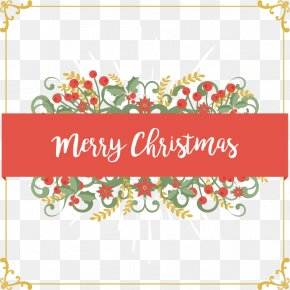 Gold Frame Cover - Christmas Card Euclidean Vector PNG