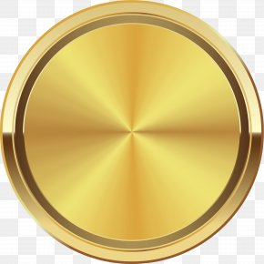Hand Painted Golden Halo Circle - Golden Circle Disk PNG