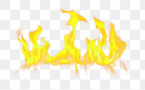 Yellow Fresh Flame Effect Element - Fire Flame Clip Art PNG