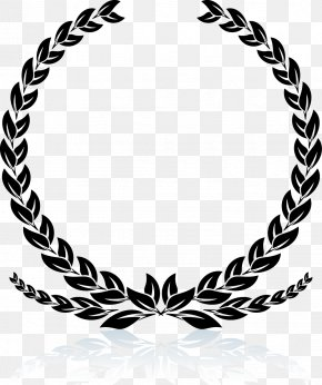Black Wheat Decoration Pattern - Laurel Wreath Stock Photography Clip Art PNG