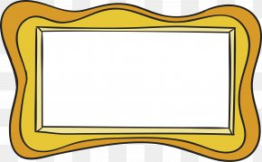 Red Wave Frame - Picture Frame Wave Yellow PNG