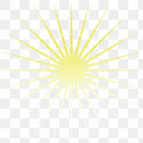 Vector Yellow Sun Rays - Light Yellow Facula Gold PNG