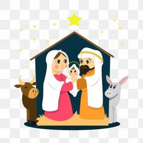Vector Nativity - Bethlehem Christmas Nativity Scene Nativity Of Jesus Child Jesus PNG