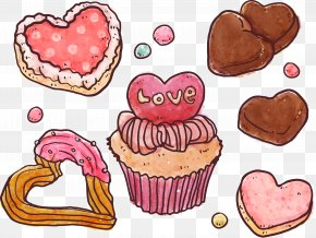 Painted Valentine's Day Sweets Vector Material - Euclidean Vector Download Sketch PNG