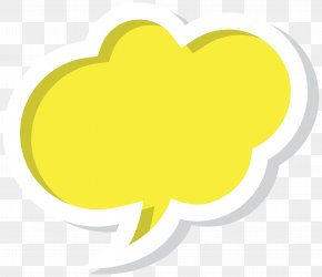 Bubble Speech Cloud Yellow Clip Art Image - Speech Balloon Clip Art PNG