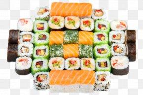Sushi Platter - California Roll Sushi Sashimi Gimbap Japanese Cuisine PNG