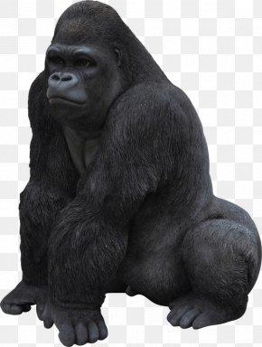 Common Chimpanzee Sculpture - Monkey Cartoon PNG
