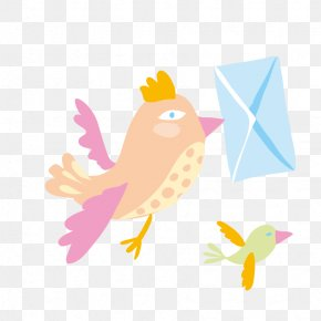 Hand-painted Bird Messenger - Bird Download Icon PNG