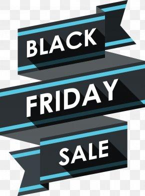 Black Friday - Black Friday Discounts And Allowances Ribbon Advertising PNG