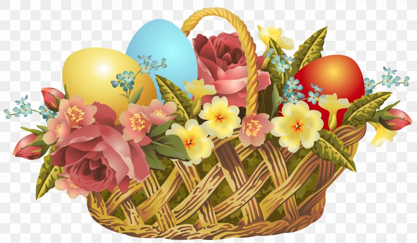Easter Bunny Easter Basket Clip Art, PNG, 7243x4237px, Easter, Animation, Basket, Christmas, Cut Flowers Download Free