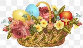 Vintage Easter Basket Transparent Clip Art Image - Easter Bunny Easter Basket Clip Art PNG