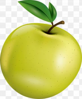 Hand Painted Green Apple Fruit - Apple Watercolor Painting Fruit PNG