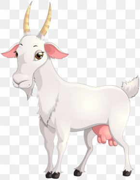 Hand-painted Goat - Goat Sheep Cattle Clip Art PNG