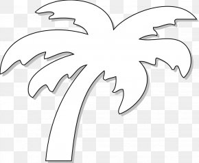 Black And White Tree Tattoos - Black And White Arecaceae Mexico Beach Clip Art PNG