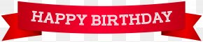 Happy Birthday Banner Red Clip Art Image - Banner Birthday Clip Art PNG