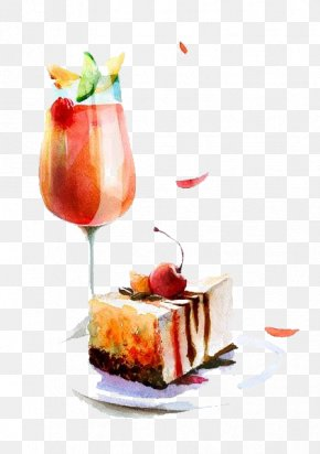 Cocktail - Cocktail Watercolor Painting Food Drawing Illustration PNG