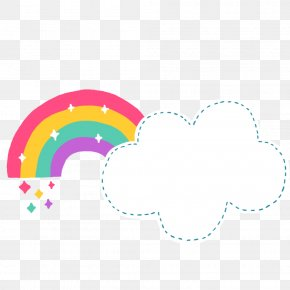 Cartoon Cute Clouds Rainbow - Rainbow Cloud Document File Format Cartoon PNG