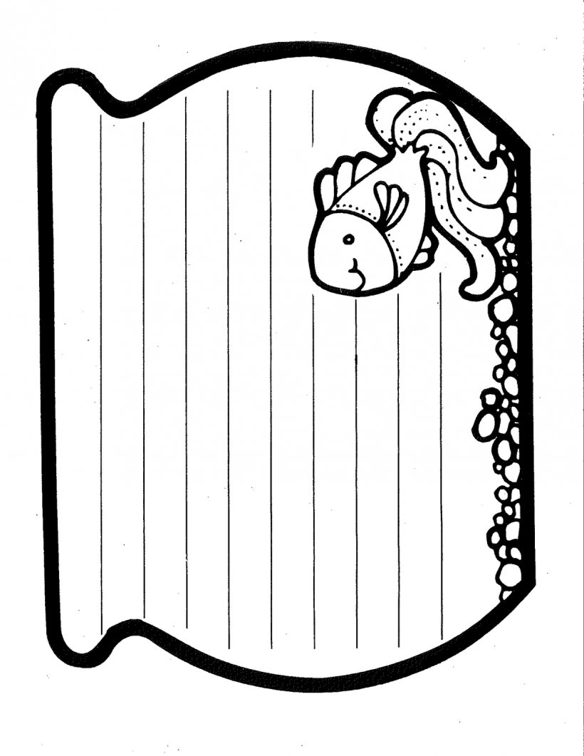 The Rainbow Fish Printing And Writing Paper Outline Png 1236x1600px Rainbow Fish Area Black And White