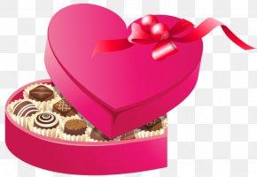 Chocolate - Chocolate Box Art Valentine's Day Heart Clip Art PNG
