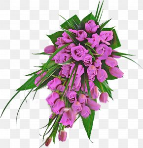 Lilac - Flower Bouquet Cut Flowers Tulip Floral Design PNG