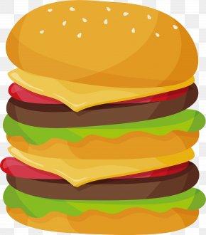 Super Jumbo Burger - Hamburger Cheeseburger McDonald's Big Mac Veggie Burger Fast Food PNG