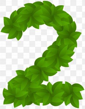 Leaf Number Two Green Clip Art Image - Leaf Green Clip Art PNG