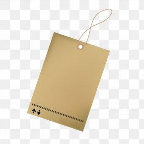 Kraft Paper Tag - Paper Label Computer File PNG