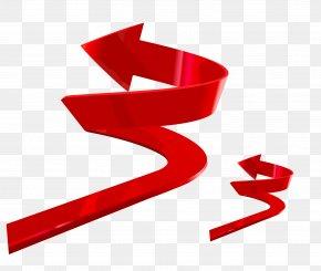 Red Zigzag Arrow - Arrow Clip Art PNG