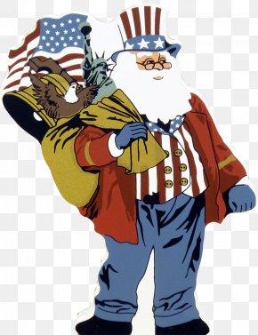 Uncle - Santa Claus United States Uncle Sam Christmas Clip Art PNG