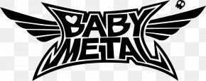 Metal Band - BABYMETAL Logo Decal Live At Budokan: Black Night Distortion PNG