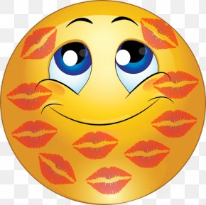 Kiss Smiley - Smiley Emoticon Kiss Face Clip Art PNG