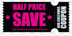 Black Friday Half Price Coupon Clipart Image - Coupon Voucher Price Sales Clip Art PNG